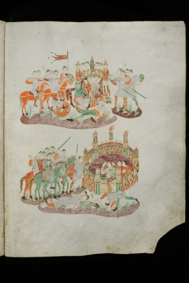Siege warfare from the Golden Psalter of St Gall