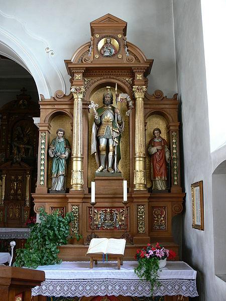 Wolpertswende, Pfarrkirche St. Gangolf, Gangolfaltar von Moriz Schlachter