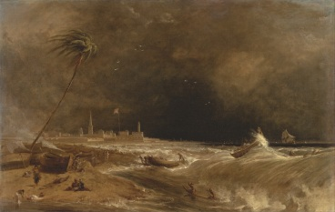 William_Daniell_-_Madras,_or_Fort_St._George,_in_the_Bay_of_Bengal_--_A_Squall_Passing_Off_-_Google_Art_Project