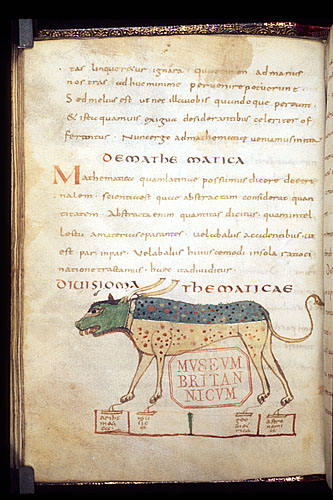 Wolf (or dog?) from scientific manuscript contemporary with Prudentius (British Library, Harley 2637 folio 50v)