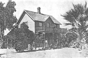 Beal built his Redlands home in 1886, and it is pictured here in 1905 (image from The Colored Citizen, July 1905, Archives, A.K. Smiley Public Library).