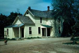 The last known photograph of the Israel Beal home, 1953 (image by Donald S.C. Anderson, Archives, A.K. Smiley Public Library).