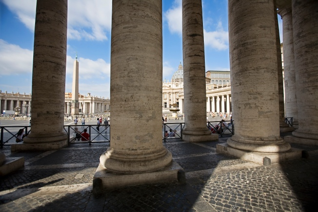 The Bernini Colonnade at St Peter's Square, San Pietro. Rome, Italy