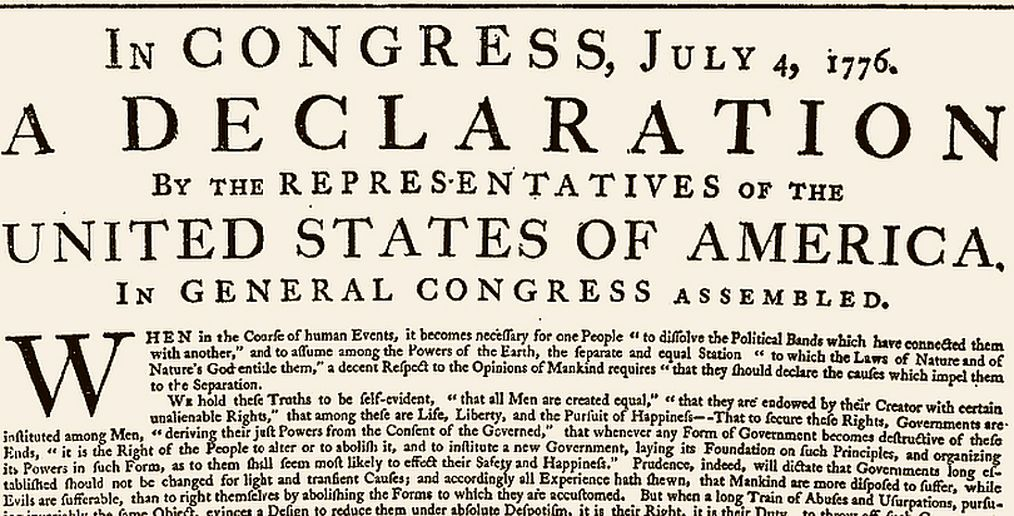 """When the Declaration of Independence states that """"all men ..."""